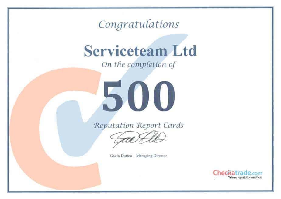 500checkatrade certificate